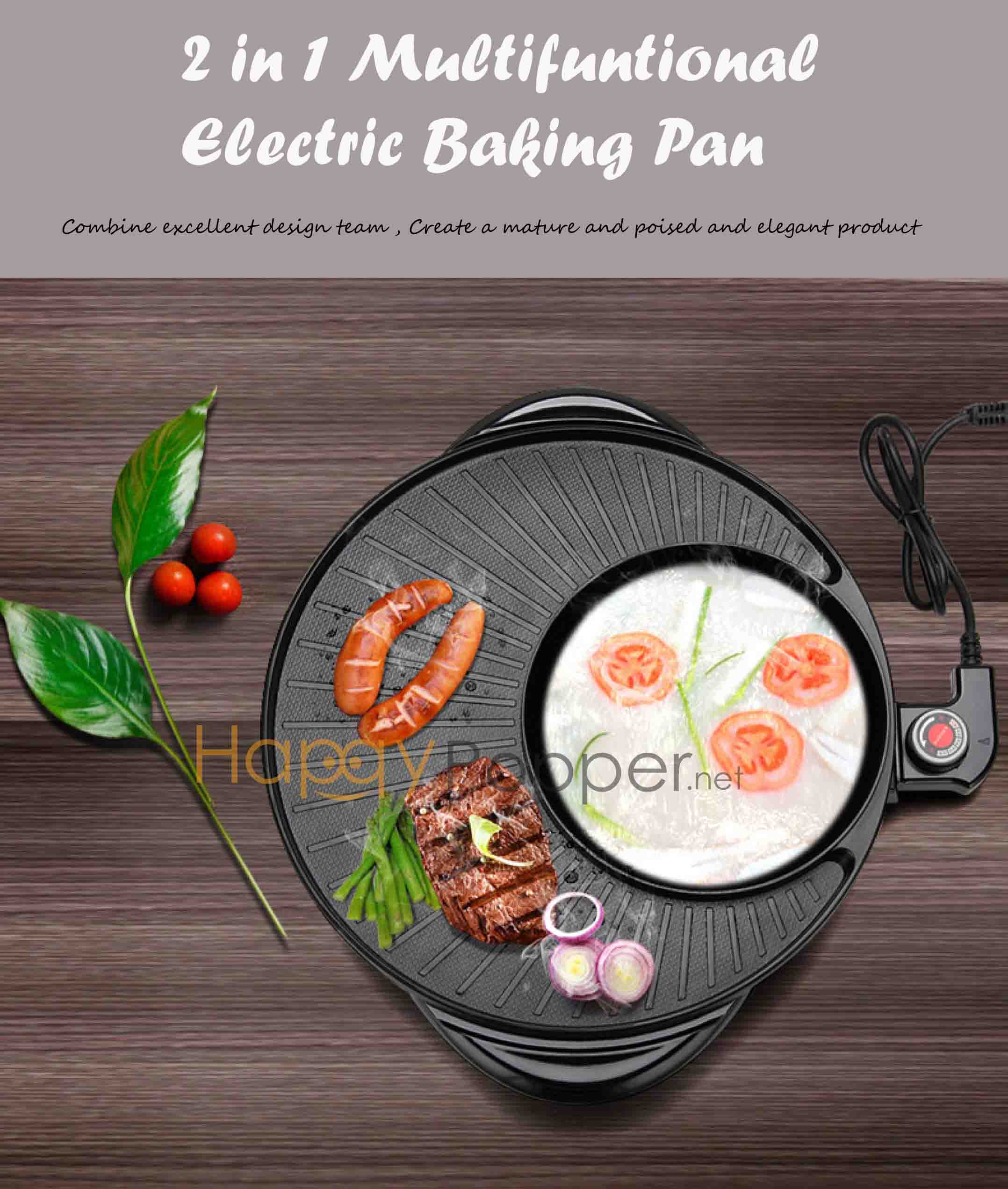 2 IN 1 STEAMBOAT MACHINE (ROUND)