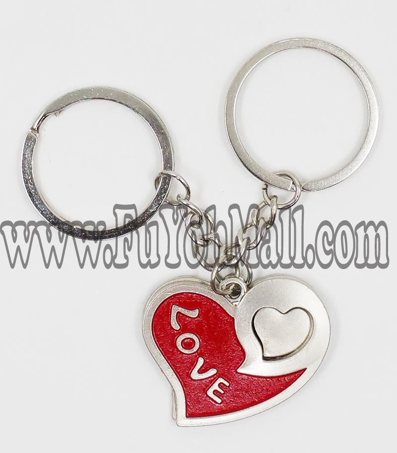 2 in 1 upside down Love Lover Key Chain 1 set / 1 pair