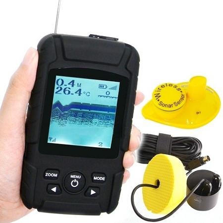 2-in-1 Wireless Waterproof Fish Finder 180m Depth (WP-FF09).