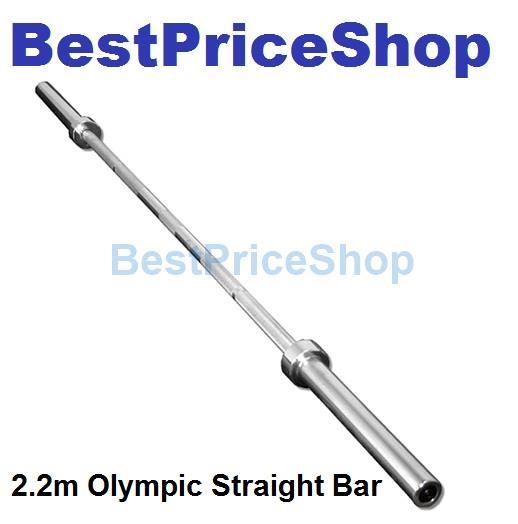 2 2m Olympic Barbell Straight Bar Handhold Per Plate Weight Lifting