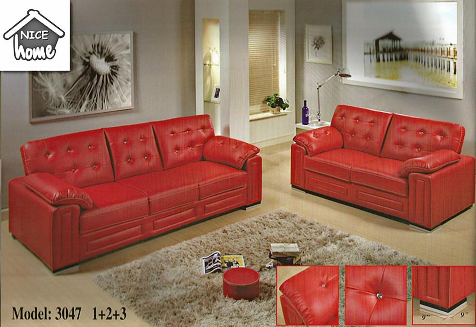 2+3 sofa set installment plan - 3047 leather