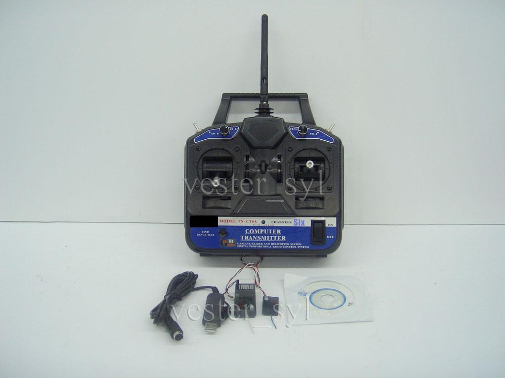 2.4Ghz 6-CH Computer Programmable Transmiter & Receiver For Plane/Heli