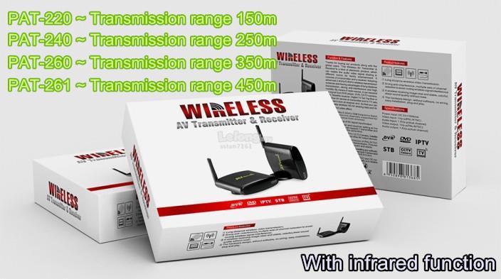 2 4GHz Wireless AV Transmitter & Receiver for ASTRO/IPTV