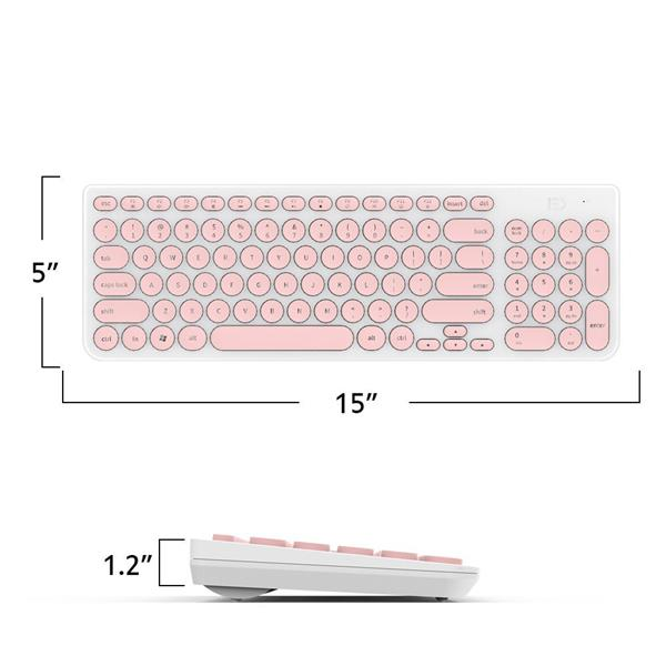 2.4GHz Wireless Soundless Keyboard + Mouse Combo Value Set