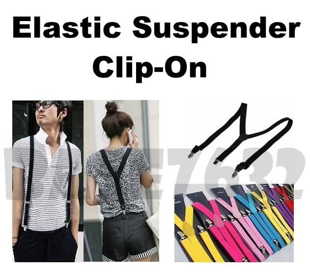2.5cm Adjustable Pant Pants Elastic Suspender Clip-On Clip 1592.1