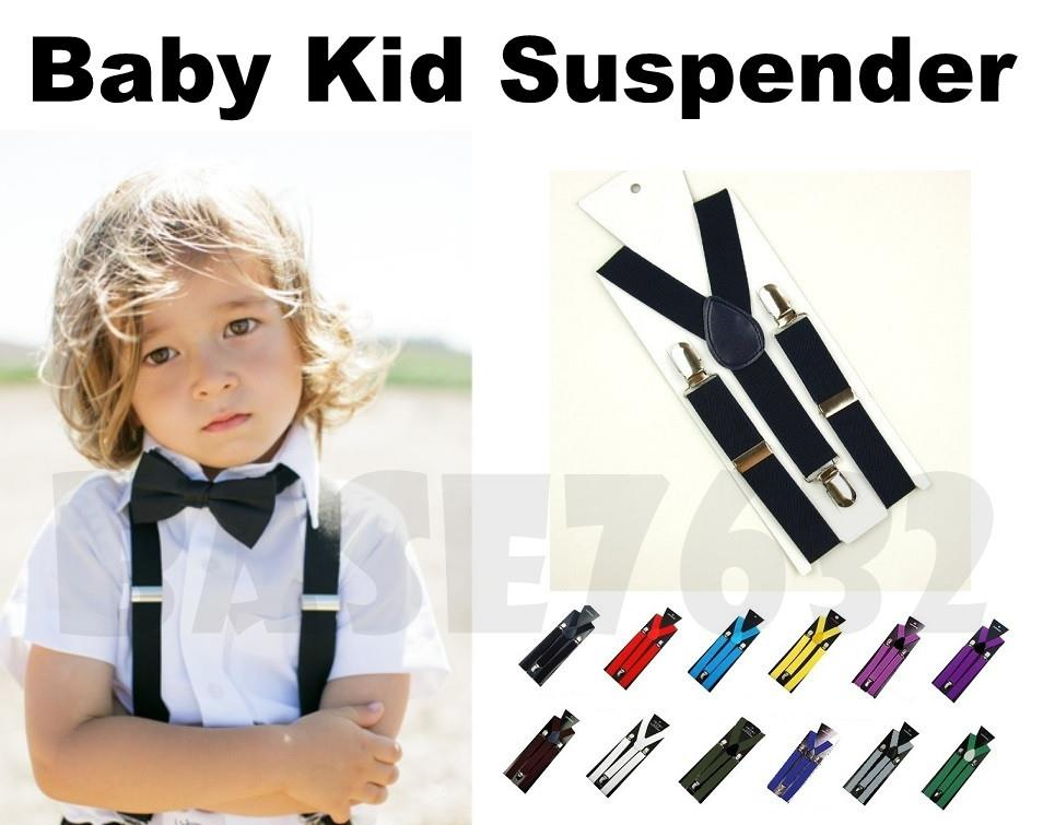 2.5cm  Baby Kid Children Adjustable Elastic Suspender Clip Braces