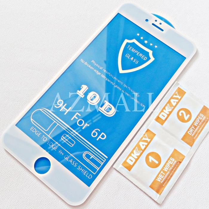 (2.5D Curved) 10D Full Cover Tempered Glass Apple iPhone 6+ 6S+ Plus