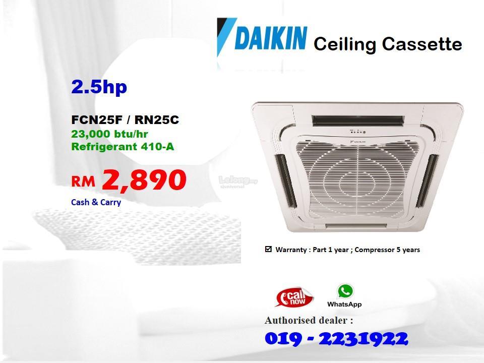 2 5hp Daikin Cassette Air Condition Fcn25f Rn25c Non Inverter R410a