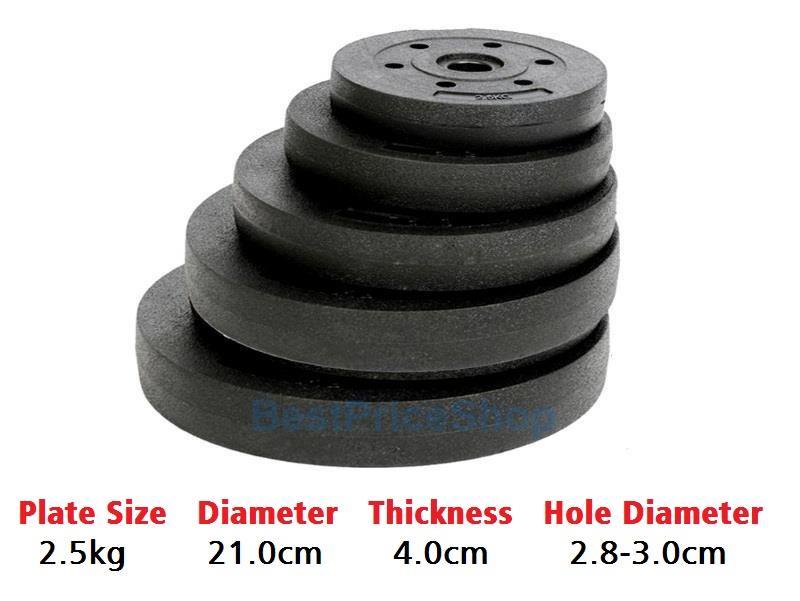 2.5kg High Grade Bumper Dumbbell Weight Plate Barbell Plates