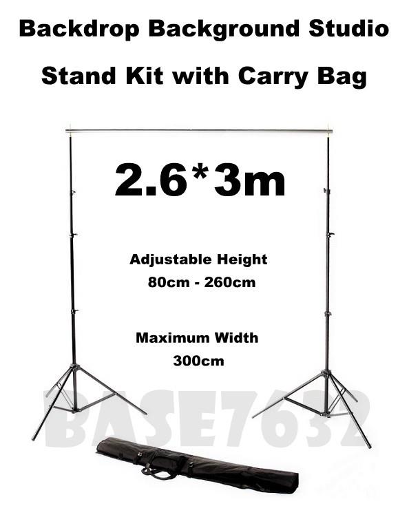 2.6*3m  Backdrop Background Studio Shooting Stand Tripod Free Clip