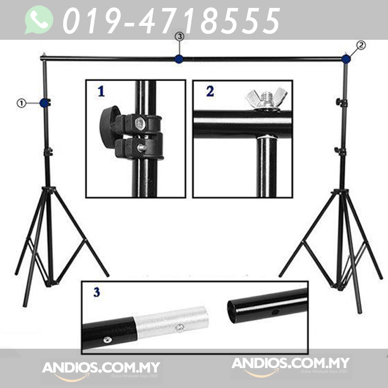 2.6mX3m Portable Backdrop Background Stand Kit.Photo Shoot Studio DIY