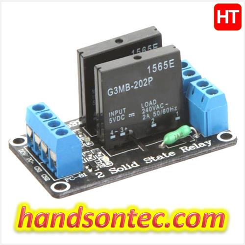 2-Channel Solid State Relay (SSR) Module 2A-240VAC
