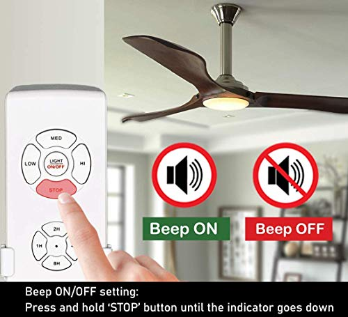 2-Pack Small Size Universal Ceiling Fan Remote Control Kit, Mini RF Wireless