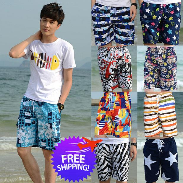 1146af47c6 2 Pc Men Lady Beach Wear Fast Dry Swimming Wear Short Pants