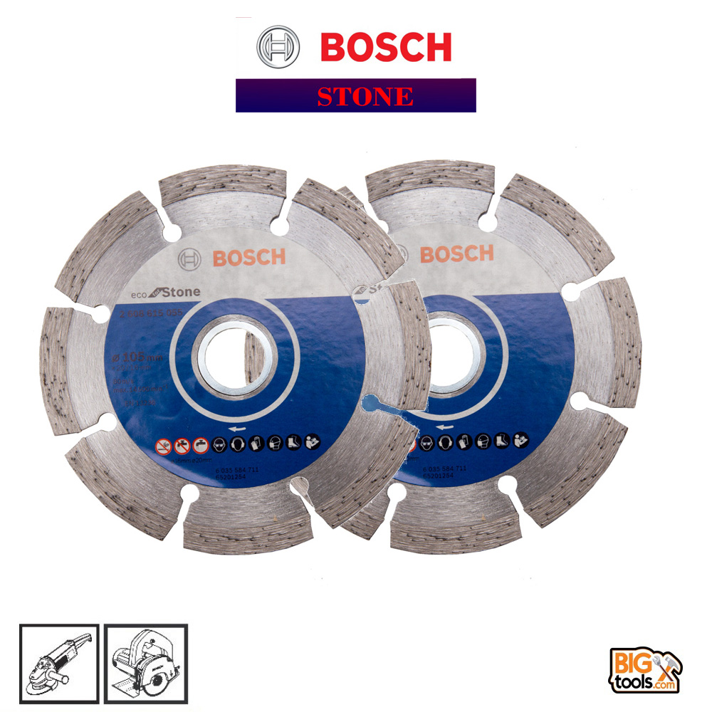 2 PCS 105MM BOSCH DIAMOND CUTTING DISC (FOR STONE)