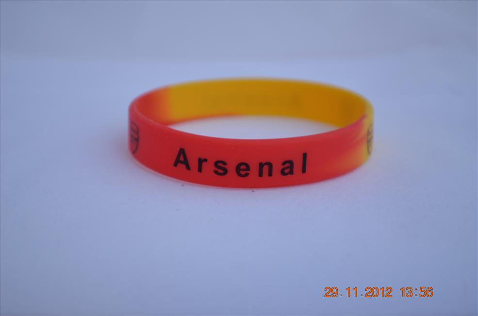2 pcs EPL Arsenal FC silicone wrist band