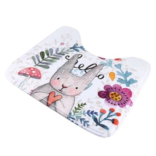 2 PCS FLOOR MAT TOILET SEAT DECORATION PAD (MULTI)