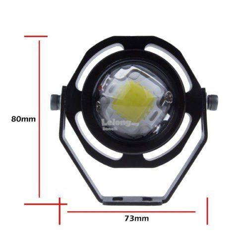 2 Pcs Xenon White 10W CREE U2 High Power Eagle Eye LED Projector DRL