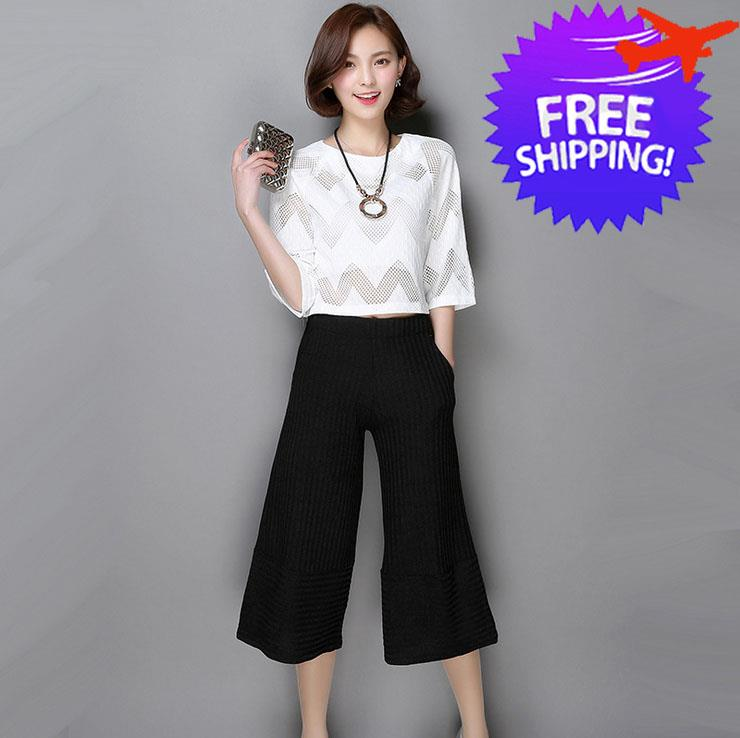 2 Piece Set Korean Fashion Women La End 8 18 2017 11 19 Pm