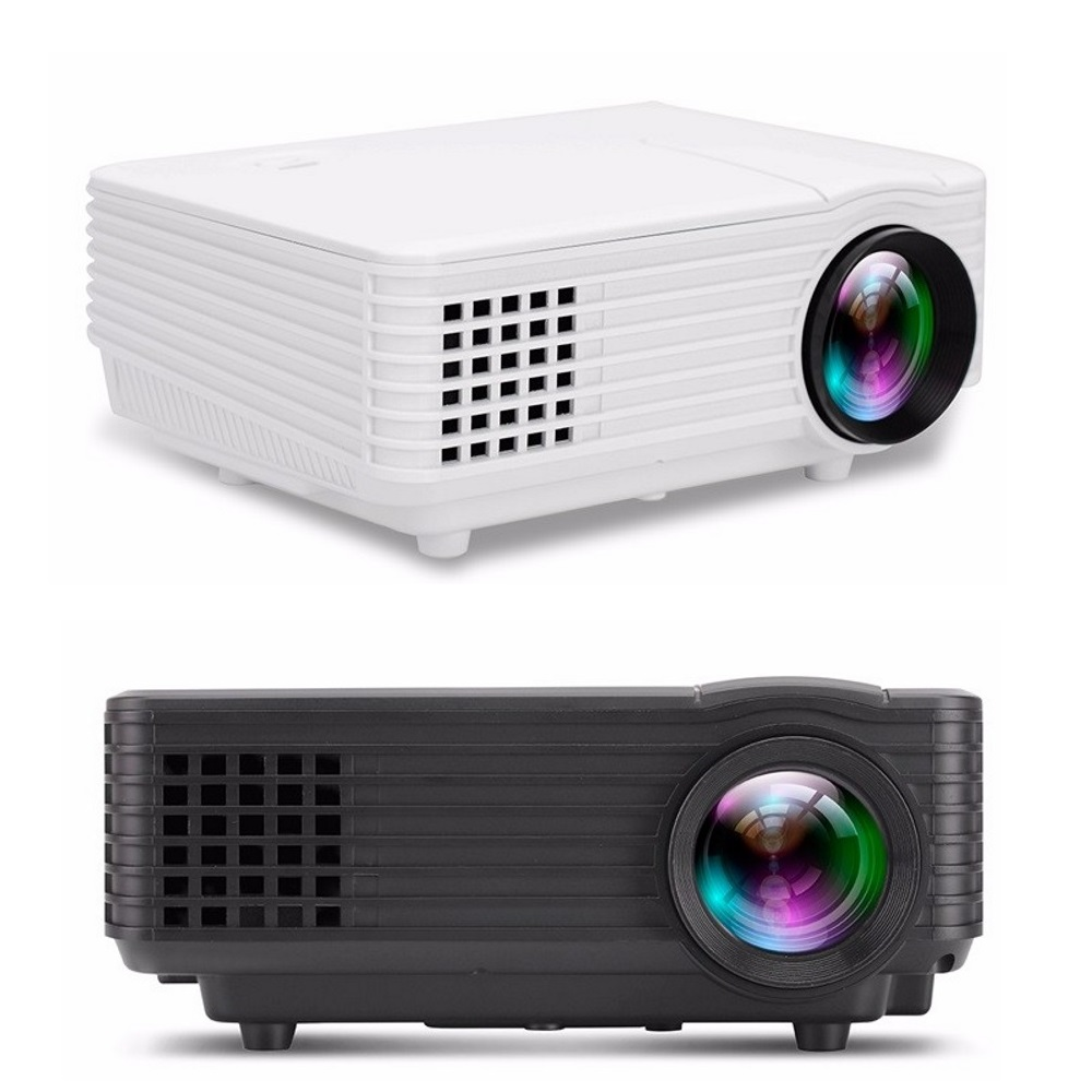 2 Pieces RD805 Black White Couple LED LCD Projector Home Theater HDMI ..