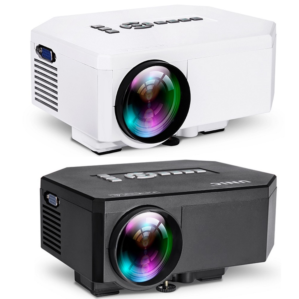 2 Pieces UC30 Black and White LED LCD Couple Projector Home Theater HD..