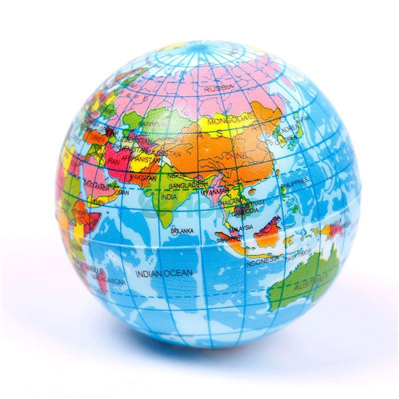 2 pieces world globe map stress reli end 5222018 915 am 2 pieces world globe map stress relief bouncy ball gumiabroncs Images
