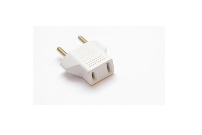 2 Pin Ac Travel Adapter Plug Converter Us To Eu