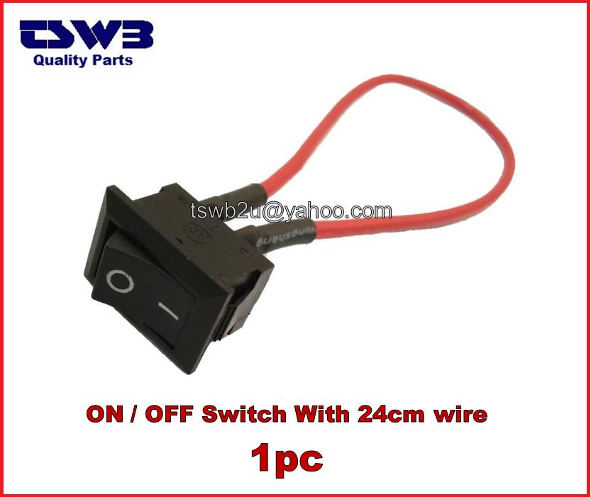 2-Pin Black ON/OFF Switch with 24cm (end 7/27/2019 3:03 PM)
