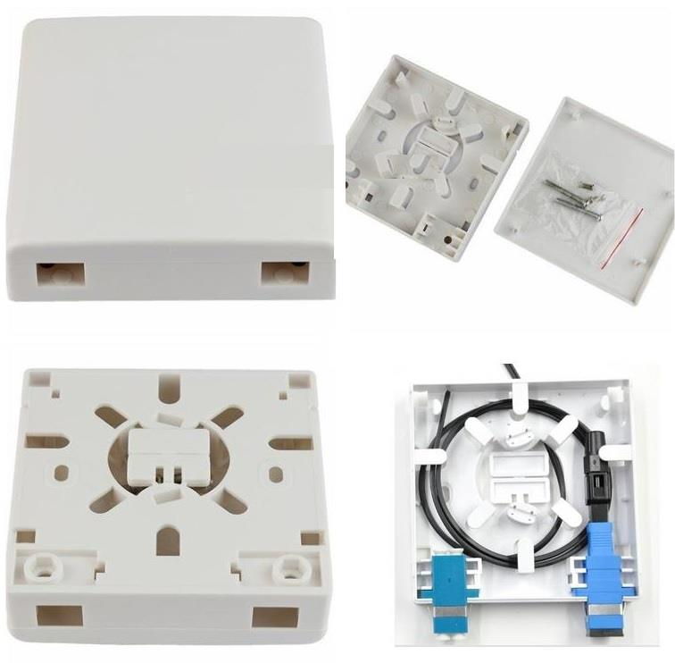 2 Ports FTTH Fiber Optic Termination Box Panel Wall Outlet (S267)