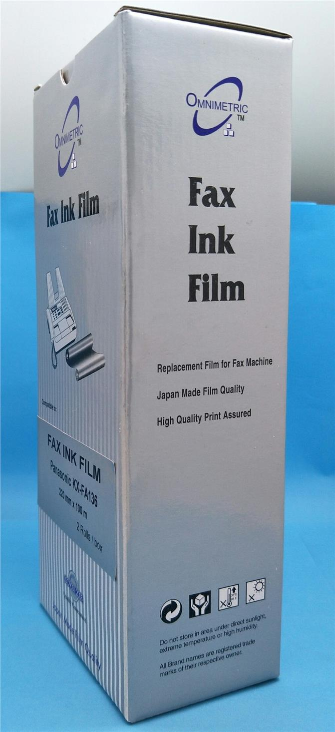 [ 2 Rolls ] Compatible Panasonic Fax Ink Film KX-FA136