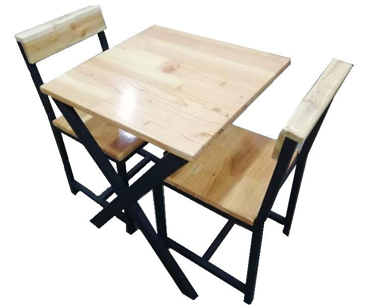 97f5106494 2 Seater Table with Chair (Pine Fing (end 12/7/2018 3:15 PM)