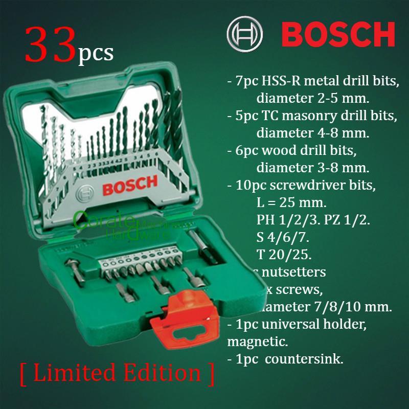 Super 2 Set] Bosch 33-pcs X-Line Screwdri (end 3/2/2019 10:15 AM) FB44