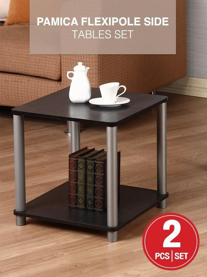 2 Set PAMICA Flexipole Side Tables