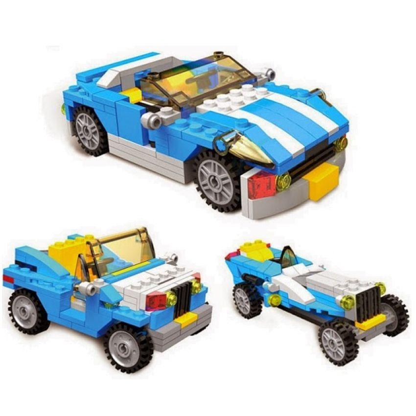 2 Sets x 3 in 1 Compatible Lego Like Bricks and Blocks Educational Toy