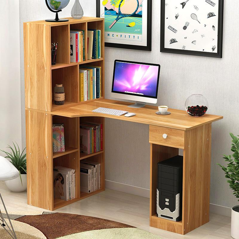 2 Size Office Computer Writing Study Table Workstation Storage Shelves