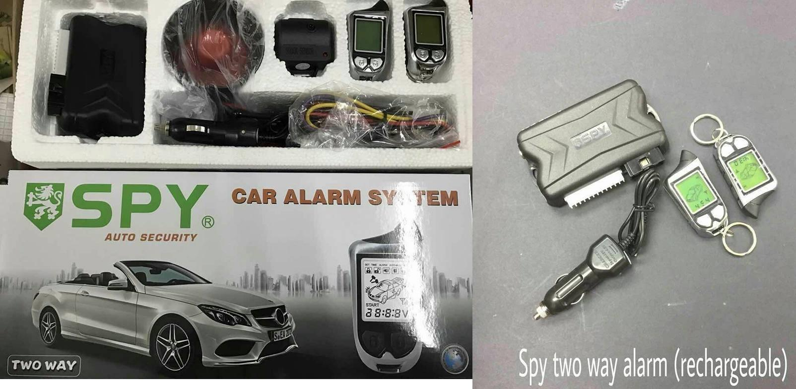 2 way spy alarm rechargeable for all car