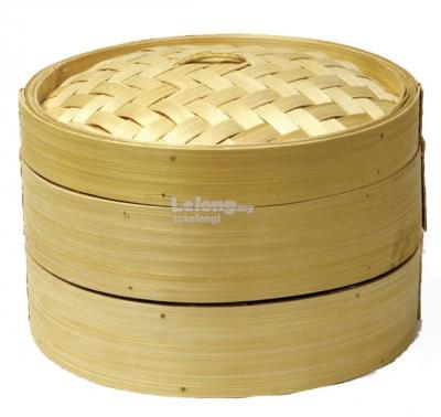 2 Tier 14 inches Bamboo Food Steamer