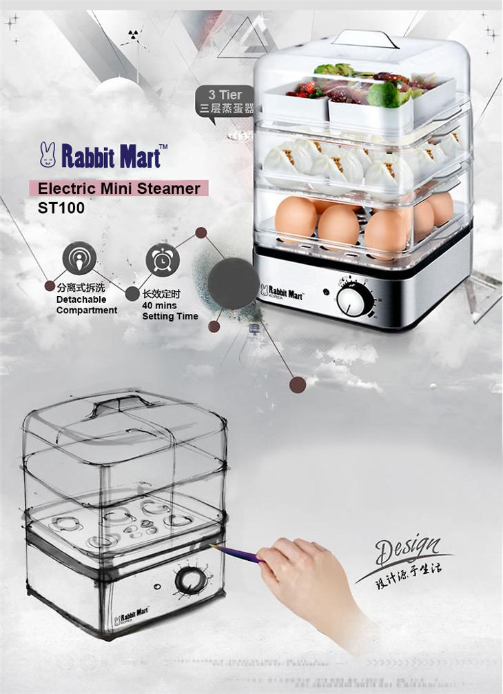3 Tier Electric Steamer ~ Tier electric mini steamer st end  pm