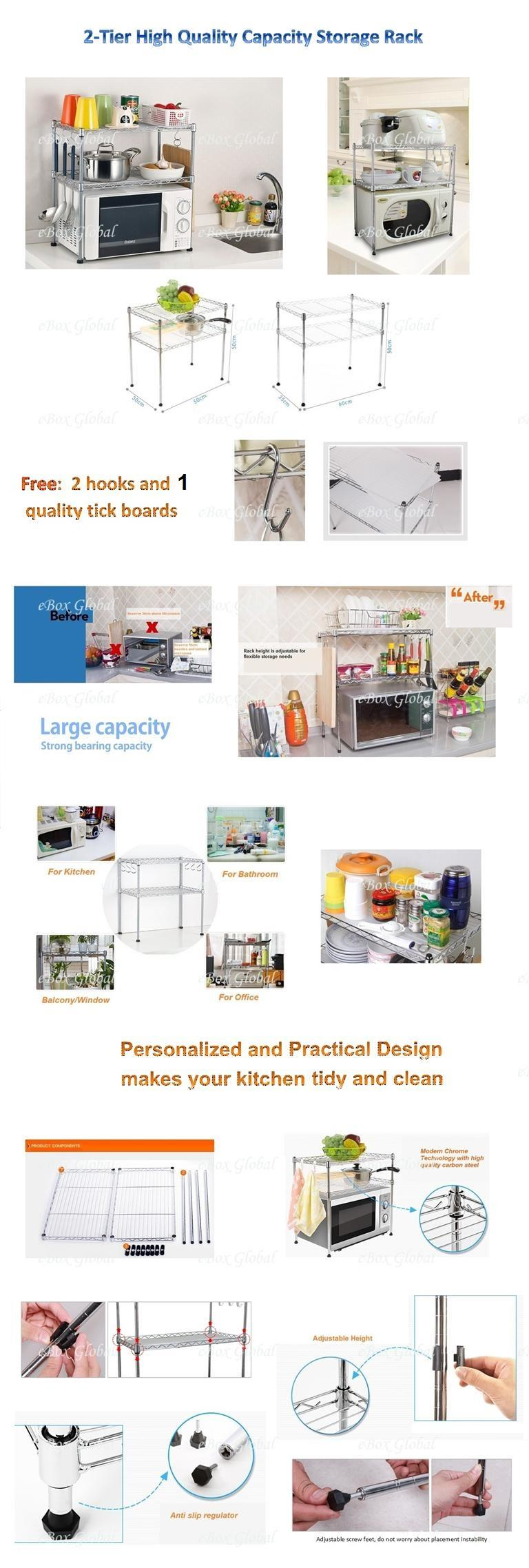 2-Tier High Quality Capacity Storage Rack 60cm(Large)
