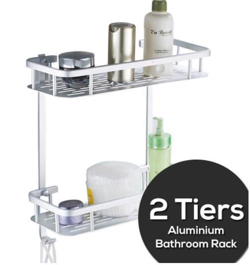 2 Tiers Bathroom Shelf Aeroe A End
