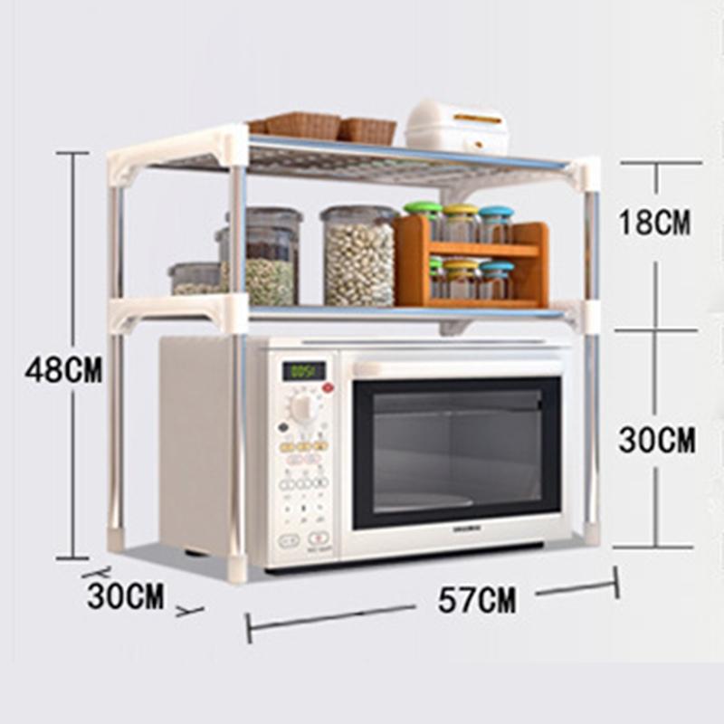 2 Tiers Layer Kitchen Rack Shelf Storage Organizer Shelves Microwave O