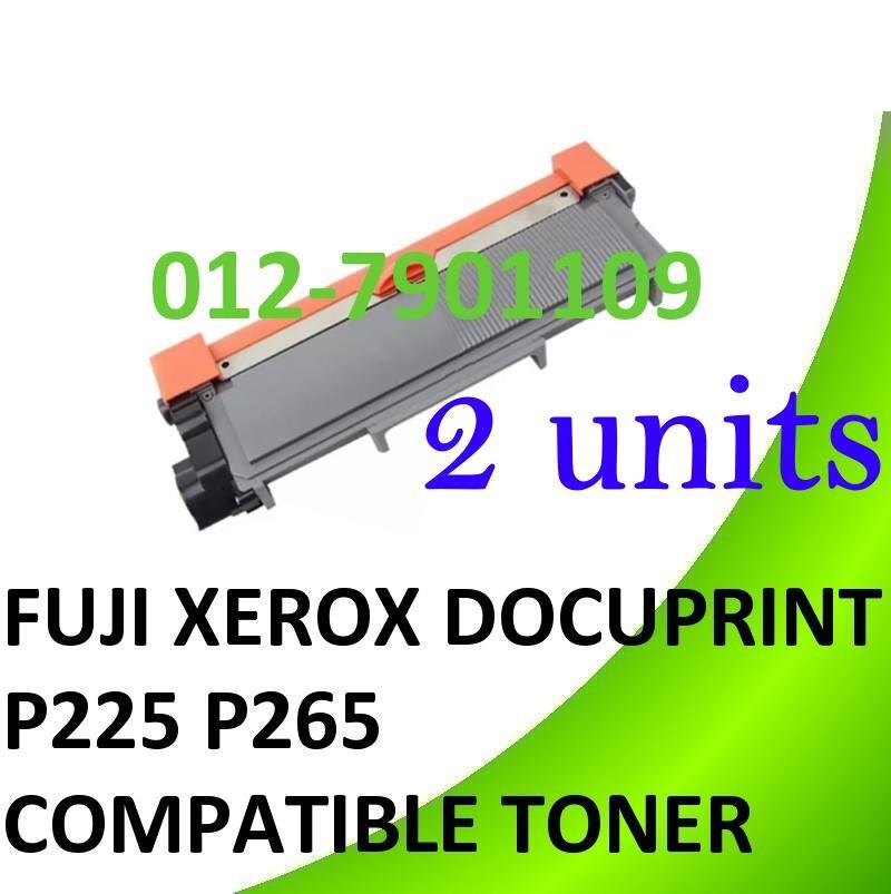2 Units Fuji Xerox DocuPrint P225 P265 Compatible Toner 225db P265dw