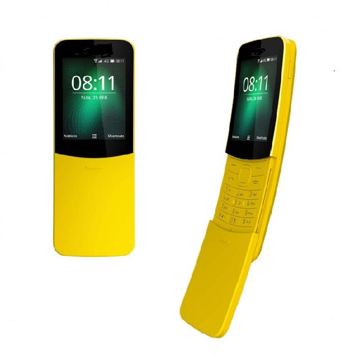2 units S Mobile 8110 Banana Retro Phone 2018 Version - Yellow
