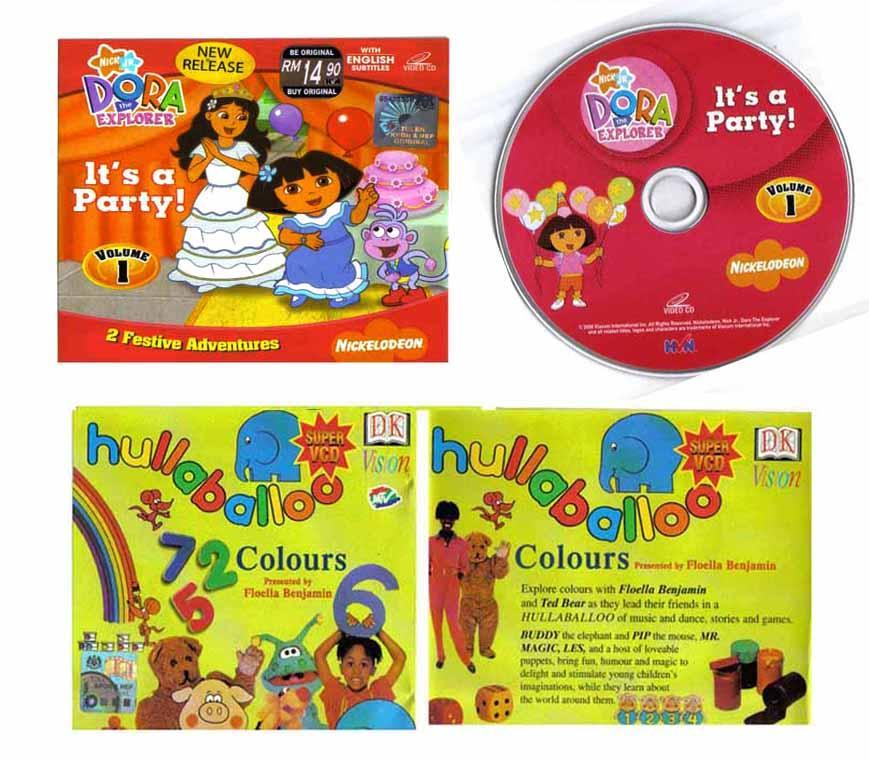 2 VCDs: DORA (It's a Party) + COLORS Hullaballoo (BARTERING Available