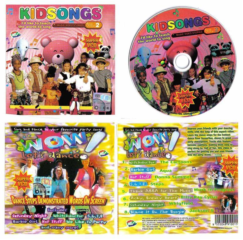 2 VCDs: kidsong + WOW Buy/Barter