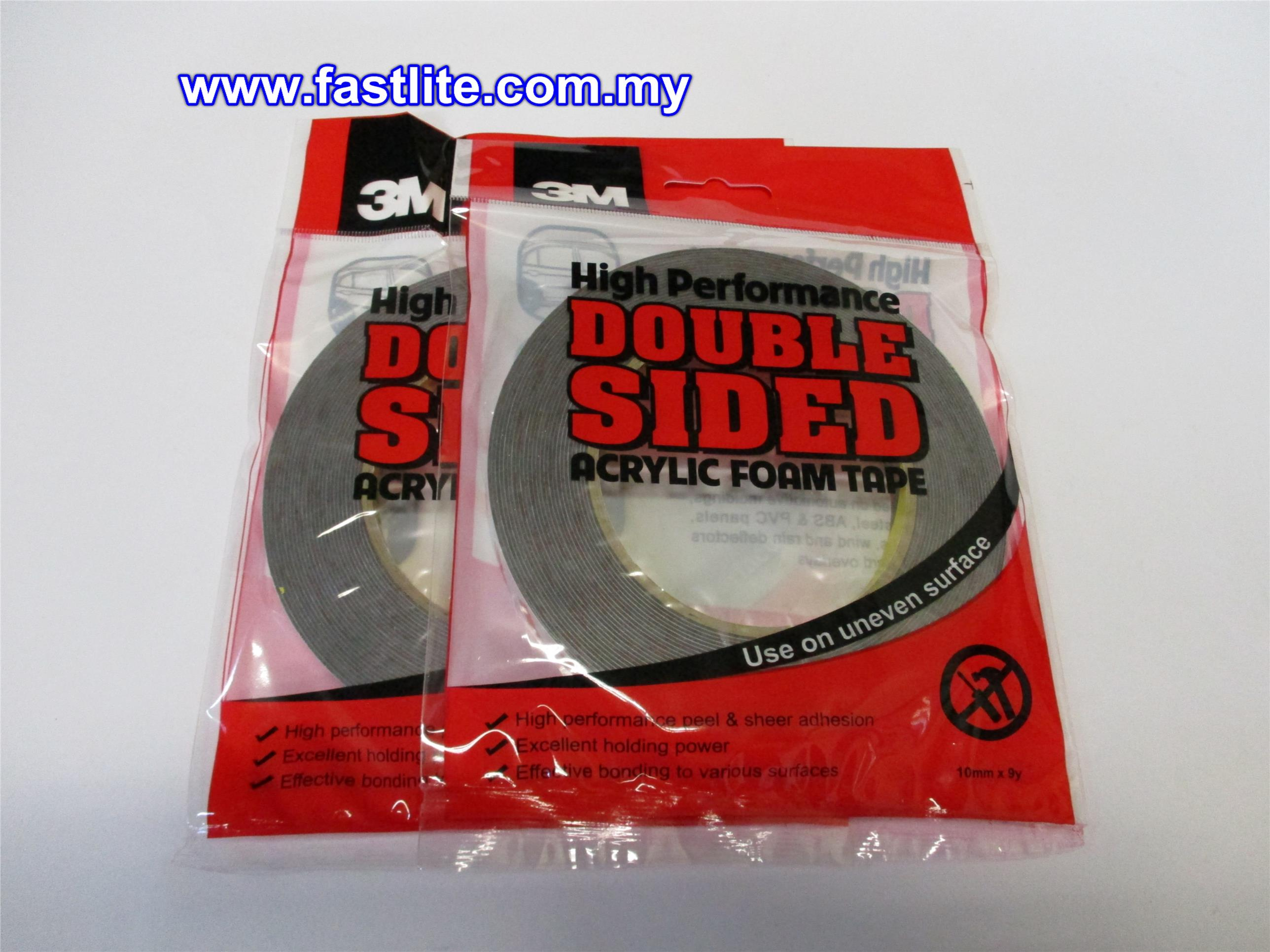 2 x 3m scotch doublesided foam heavy duty adhesive tape 10mm width