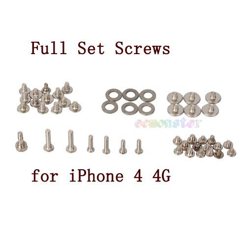 2 X Full set of Screw for Iphone 4/4S