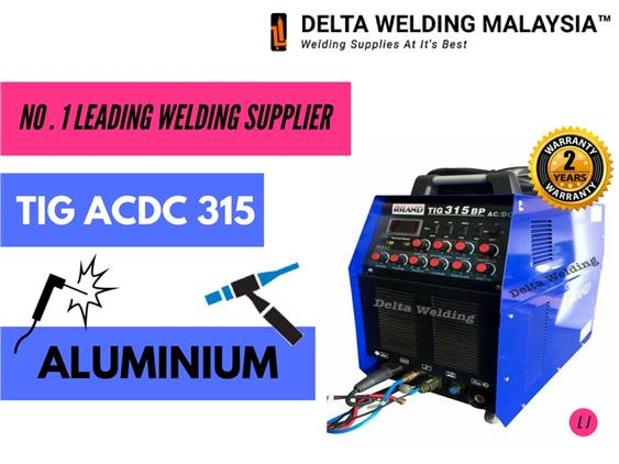 2 years warranty - ACDC TIG Welding machine Delta Riland 315 Pulse