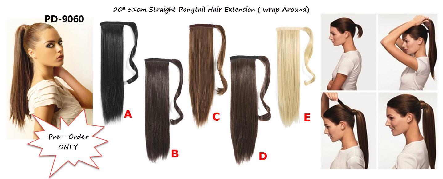 Cm Straight Ponytail LongDI End PM - Diy ponytail wrap