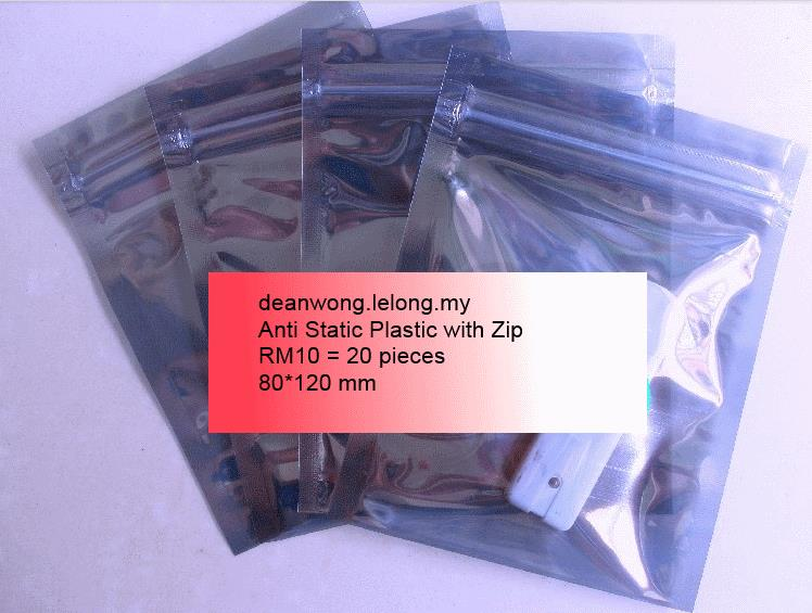 20 Anti Static Bag with zip  80*120mm